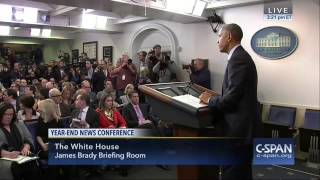 Reporter Gets Sick During Obama's Final Press Conference