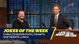 Seth's favorite jokes from the week of July 17. » Subscribe to Late Night: http://bit.ly/LateNightSeth » Get more Late Night with Seth Meyers: http://www.nbc...