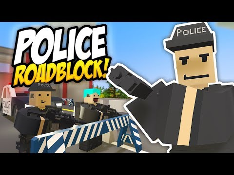 POLICE ROADBLOCK GETS OUT OF HAND - Unturned Police Roleplay!