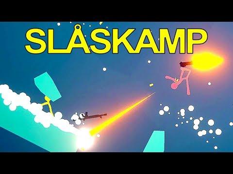 KAMP MED MINIGUN - Stick Fight: The Game - Sjove Klip [Dansk]