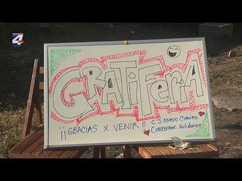 """Corazones solidarios realizó una """"Gratiferia"""" en el centro juvenil Nuevo Camino"""