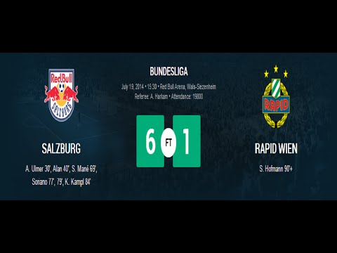 6 1 - Subscribe here: bit.ly/1po7JTe RB Salzburg - Rapid Vienna (6-1) HIGHLIGHTS 19.07.2014.