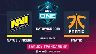 Natus Vincere vs Fnatic, ESL One Katowice [Jam, Maelstorm]