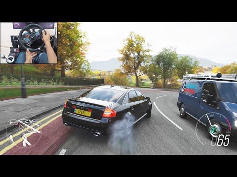 800BHP Twin-turbo Audi RS 6 - Forza Horizon 4 | Logitech g29 gameplay