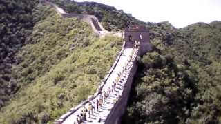 Human chain for Catalonia's independence at the Great Wall of China