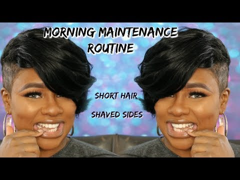 Short hair styles - SHORT HAIR SHAVED SIDES MORNING MAINTENANCE ROUTINE