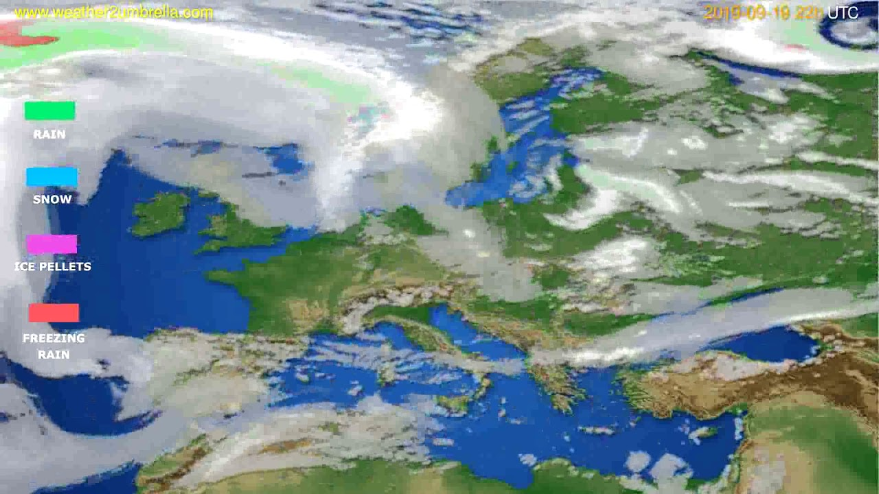 Precipitation forecast Europe // modelrun: 00h UTC 2019-09-17