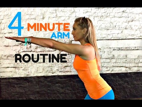 Home Workout 4 Minute Toned Arms Workout -💪🏽  Arm Exercises For Women  START NOW