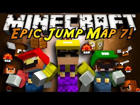 Minecraft: Epic Jump Map MARIO EDITION Part 1!