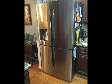 Samsung 28 Cu. Ft. 4 Door Flex French Door Refrigerator In Stainless  Steel RF28K9380SR   The Home Depot