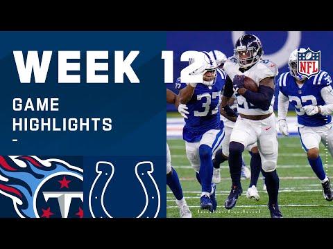 Titans vs. Colts Week 12 Highlights | NFL 2020