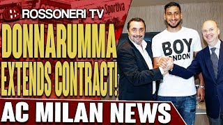Gigio Donnarumma extends his contract with AC Milan until 2021. Let us know your thoughts in the comments!SUBSCRIBE for more AC Milan videos: http://www.RossoneriTV.comSUPPORT Rossoneri TV by making a donation: http://patreon.com/rossoneritvFOLLOW our social media accounts:► Twitter: http://www.twitter.com/RossoneriTV► Facebook: http://www.facebook.com/RossoneriTV► Instagram: http://www.instagram.com/RossoneriTV► Google+: http://plus.google.com/+RossoneriTVChannel