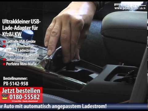 Ultrakleiner USB-Lade-Adapter für Kfz: 12V/24V auf USB 5V 1200mA