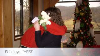 Follow A Trail Of Roses Marriage Proposal - Stonewall Resort