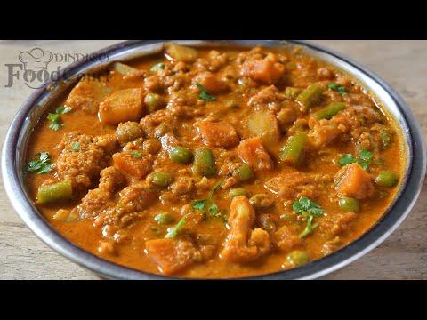 Hotel Style Veg Kurma/ Vegetable Kurma/ Side Dish for Chapati