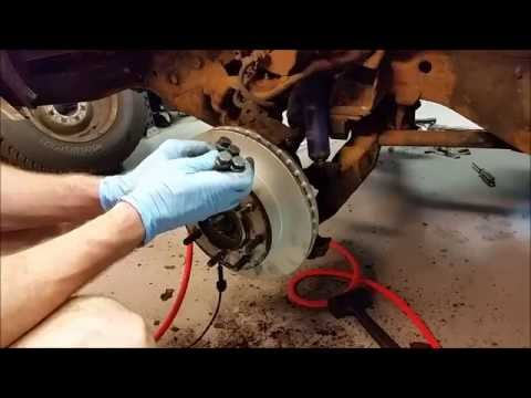 Chevy GMC 3/4 Ton K2500 4WD Removing Front Rotor / Hub 1988 to 1998