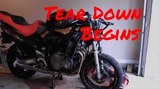 8. Begin the TEAR DOWN...[Bike Rebuild Ep. 02 - Suzuki Katana 600]