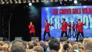 WEST END LIVE 2013  JERSEY BOYS 'THE CROWD GOES WILD!'  SATURDAY 22 JUNE 2013.  HD