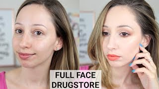 Full Face DRUGSTORE Summer Makeup Tutorial & Affordable Brushes | Vasilikis beauty tips