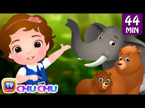 Nursery Rhymes Wild Animals for Kids Learning Songs