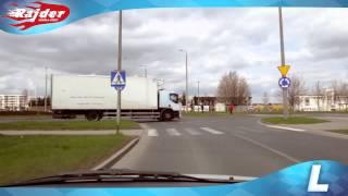 Rajder - Toruń trasy egzaminacyjne - jazda w lewo po rondzie - Rondo Czadcy - szkoła jazdy 2014