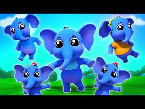 Elefantenfingerfamilie | Kinderreime für Kinder | Elephant Finger Family | Farmees Deutschland
