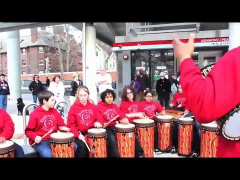 ExpressingBoston: World Rhythm Ensemble Flash Mob