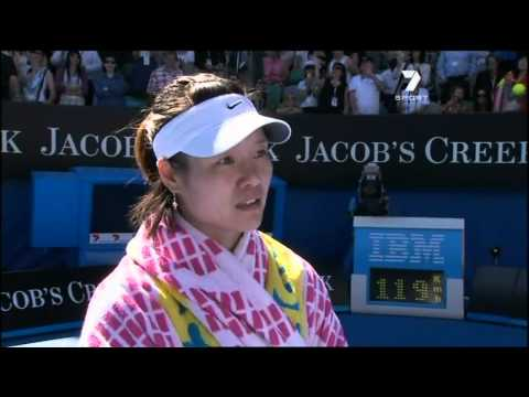 verena801 - Hilarious oncourt interview at the Australian open Copyright goes to Channel 7.