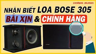 Nhận Biết Loa BOSE 305 Bãi Xịn, Chính Hãng Nguyên Bản, Review Mô Tả Hát Thử ngay tại Hoàng Audio