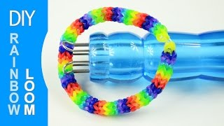How to Make a Rubber Band Bracelet with Knitting Spool - YouTube