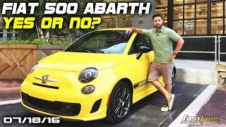 The Fiat 500 Abarth: Yes or No? - Fast Lane Daily by Fast Lane Daily