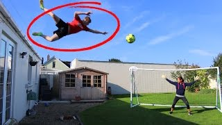 Video JUMPING OFF MY ROOF FOOTBALL CHALLENGE!! MP3, 3GP, MP4, WEBM, AVI, FLV Maret 2019