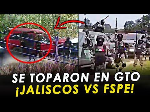 ¡FILTRAN VIDEO! Cámaras captaron Topón entre Jaliscos y Estatales en Salamanca GTO.