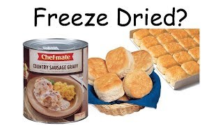 Will it Freeze Dry? - BISCUITS AND GRAVY - In a Harvest Right Home Freeze Dryer.