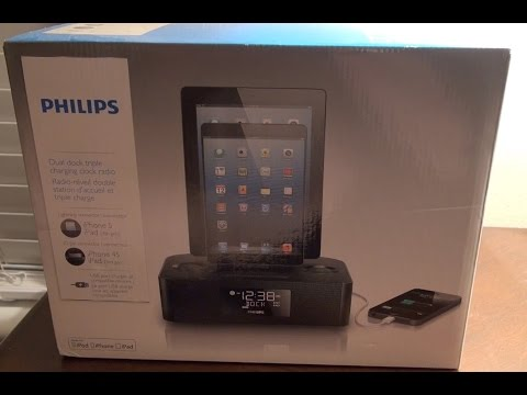 First View - Philips Clock Radio Triple Charging Dock Station