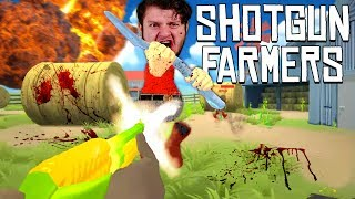 Join SkyVsGaming and friends for some hilarious funny moments in Shotgun Farmers!Merch - http://www.teespring.com/stores/skyarmyHey guys! Welcome back to SkyVsGaming in GET OFF MY LAWN! Shotgun Farmers - Funny Moments! with SkyDoesMinecraft himself, RedVacktor, AlaskAngeles, and PrestonDanger. In this fun new episode, we go down to the farm and dual each other (Farmer style) in Shotgun Farmers! Two teams, one champion. There are carrot shotguns, peashooters, corn-assault rifles and more. Don't miss a hiliarous moment and stay tuned to see who wins! Slap that like button if you like shotgun farmers and enjoyed this video. Also, click that notification bell so you never miss a funny moment again. Thanks for watching GET OFF MY LAWN! Shotgun Farmers - Funny Moments! See you next time!