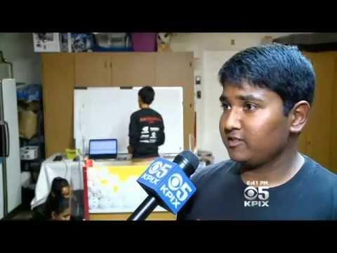 CBS: Tech Minded Teens Build A Robot In Fremont Garage