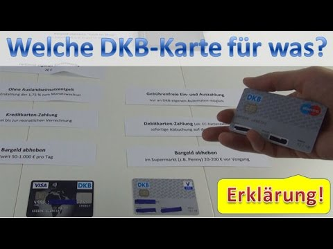 DKB Karten: Giro- oder Visa Card nutzen?