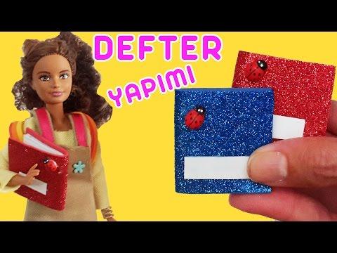 Barbie için Defter Yapımı | Oyuncak Butiğim