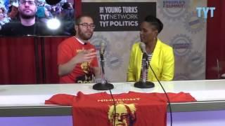 TYT Politics Reporter Jordan Chariton (https://Twitter.com/JordanChariton) talks with Kimberly Ellis at The People's Summit 2017!