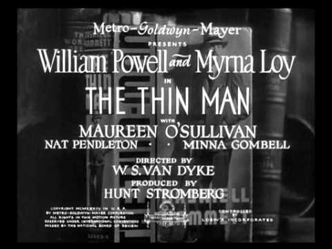 The Thin Man (1934) -- OPENING TITLE SEQUENCE