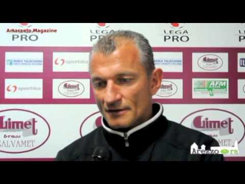 Arezzo-Pro Patria 2-2 / Intervista a Montanari