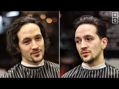 Mens hairstyles - Long Hair To Medium Length Taper Hairstyle For Men  Men's Haircut Transformation 2019