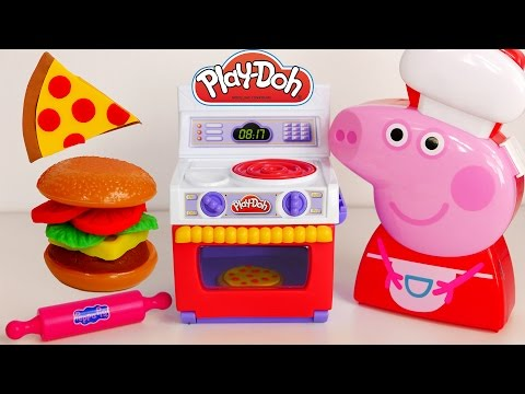 Peppa Pig Cooking Case Play Doh Kitchen Pizza Burger