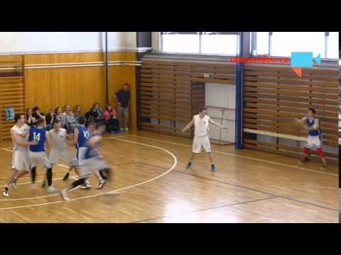 Finále krajského přeboru v basketbale - závěrečná střela