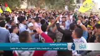 """فوز كتلة """"الشهداء """" بـ 41 مقعداً و كتلة """"فلسطين المسلمة"""" بـ 34 مقعداً في انتخابات مجلس طلبة جامعة النجاح"""