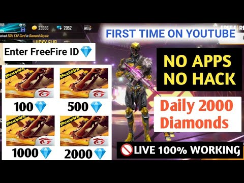 How To Get Free Diamond In Free Fire Id || Get Free Diamond All Bundles And Dj Alok Character..