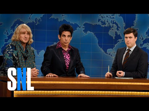 SNL Weekend Update From Derek  Zoolander & Hansel!