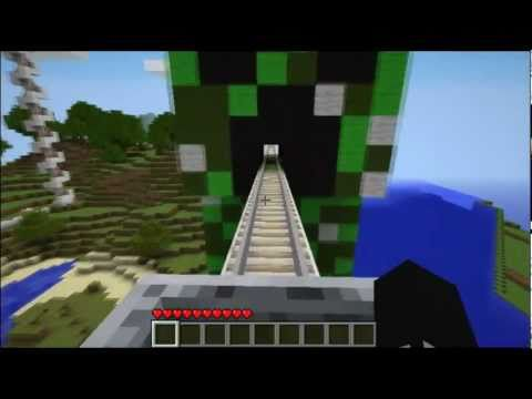 Minecraft Roller Coaster :: Creeper Statue - City Craft Server (IP in description!!)