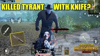 KILLING TYRANT BOSS WITH COMBAT KNIFE? I Pubg Mobile x Resident Evil 2 (Android) HD